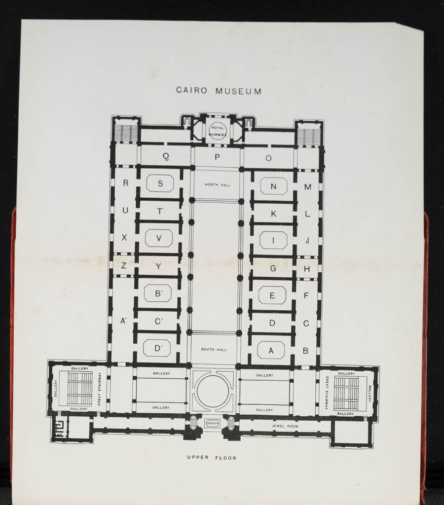 1903 map of upper floor, Cairo Museum
