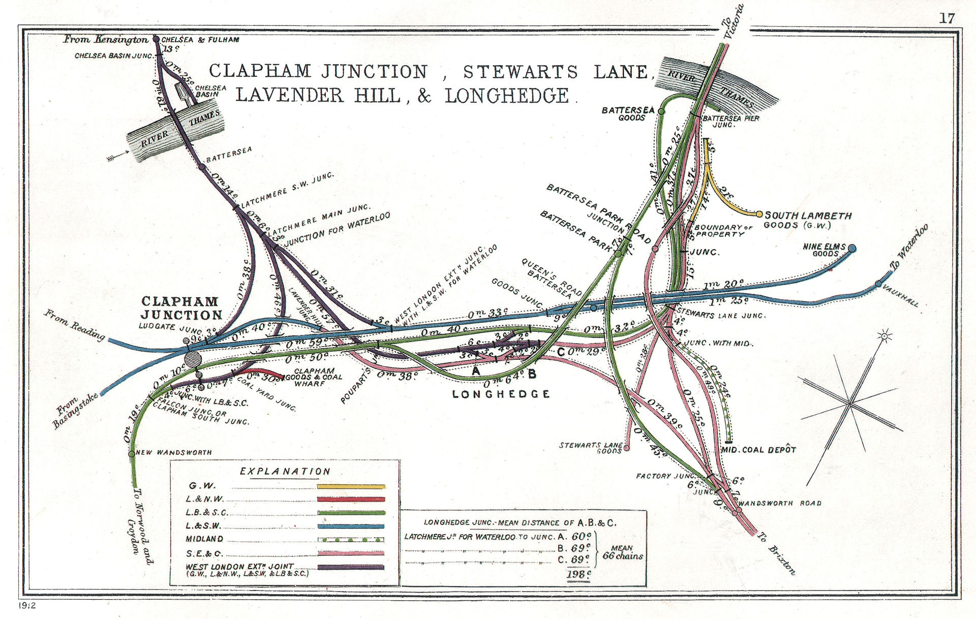 Plan of Clapham Junction, 1912
